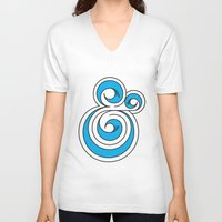 ampersand V-neck T-shirts featuring Ampersand by Micah Lanier
