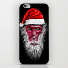 Santa Monkey iPhone & iPod Skin