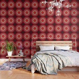 Bright Red Mandala Wallpaper