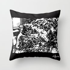 Burning Monk Throw Pillow