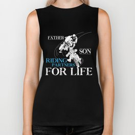 Dirt Bike T-Shirt Father Son Riding Partners Motocross Gift Biker Tank