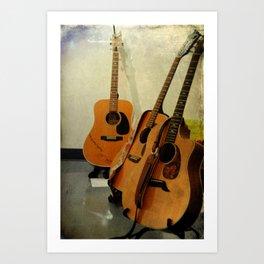Guitar Trio Art Print