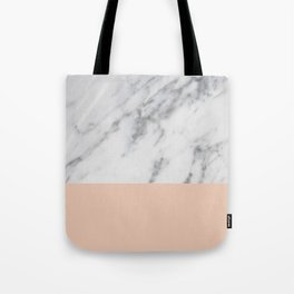 Marble and Blush Pink Tote Bag