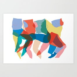 Dancing Bodies Art Print