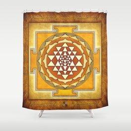 Sri Yantra XVII Shower Curtain