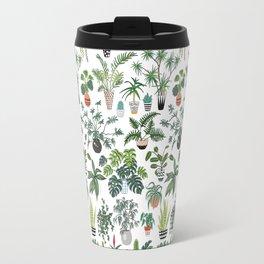 plants and pots pattern Travel Mug