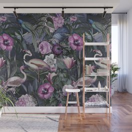 Flamingo Jungle Tropical Paradise Wall Mural