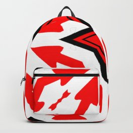 Star Arrow Red White Abstract Art Pattern Backpack