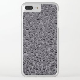 black gloss water bubble black texture pattern Clear iPhone Case