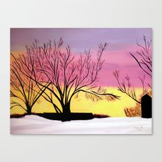 Winter's blush Canvas Print