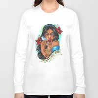 jasmine Long Sleeve T-shirts featuring Jasmine by Little Lost Forest