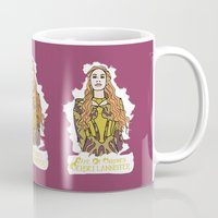 lannister Mugs featuring Cersei by JessicaJaneIllustration
