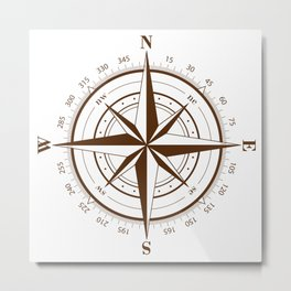 Nautical Compass  Metal Print