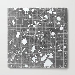 Orlando USA Modern Map Art Print Metal Print