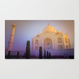 Morning Colors over Taj Mahal Canvas Print