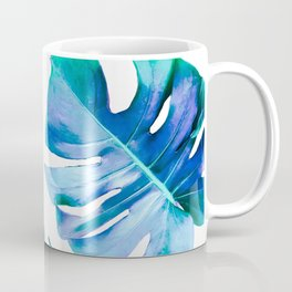 Monstera exotica - azure Coffee Mug
