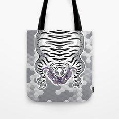 TIBETAN TIGER WHITE (white) Tote Bag