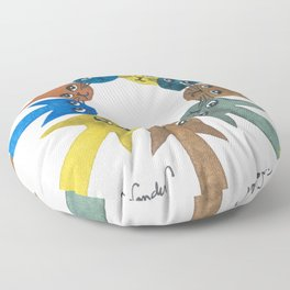 Rouen Whimsical Cats Floor Pillow