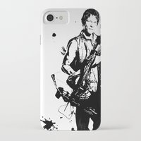 daryl dixon iPhone & iPod Cases featuring Daryl Dixon by Black And White Store