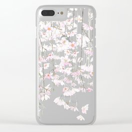 pink cherry blossom Clear iPhone Case