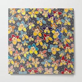 Seamless Pattern with small Flowers. Scandinavian Styl Metal Print