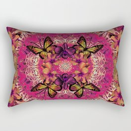 Victoria Mandala Collage Rectangular Pillow