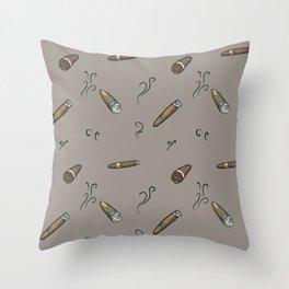 Smoky cigar pattern Throw Pillow