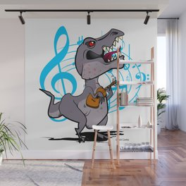T-Rex on the Ukulele Wall Mural