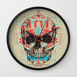 Skull Native Wall Clock