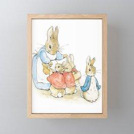 Peter Rabbit and Family Framed Mini Art Print