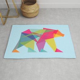 Fractal Bear - neon colorways Rug