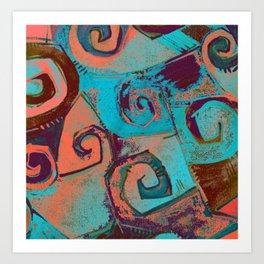 Square circles Art Print