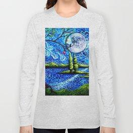 cat starry night Long Sleeve T-shirt