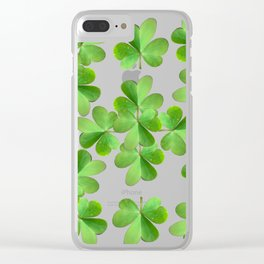 Clover Print Clear iPhone Case