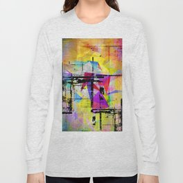 Colorful abstract digital art by d medich Long Sleeve T-shirt