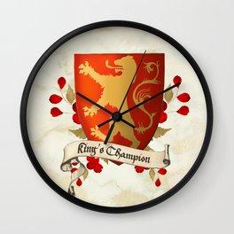 King's Champion - Lioness Shield Wall Clock