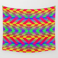 psychedelic Wall Tapestries featuring Psychedelic by Texture