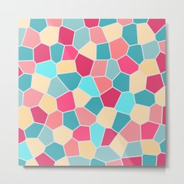Mosaic Pattern - Bubble gum Metal Print
