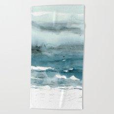dissolving blues Beach Towel