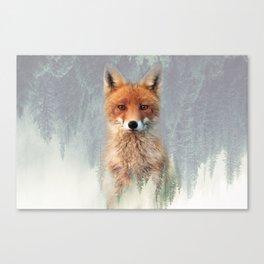 Vanishing Fox Canvas Print