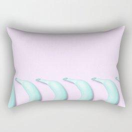 Candy Teal Bananas on Pink Rectangular Pillow
