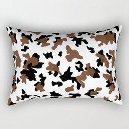 Brown and black . Cow print pattern . Animal print . Pattern trend by Arcos prints Rectangular Pillow