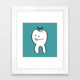 Buck Teeth Framed Art Print