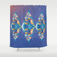 diamond Shower Curtains featuring Diamond  by sandesign