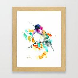 Cute Little Hummingbird Framed Art Print