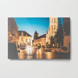 Rush Streets of Budapest Metal Print