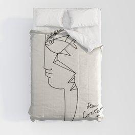 Poster-Jean Cocteau-Linear drawings-Fisheye. Comforters