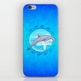 Dolphin Maori Sun iPhone Skin