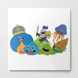 Slime Family Metal Print