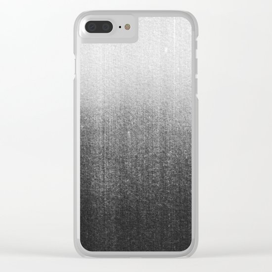 BLUR / abyss / black Clear iPhone Case